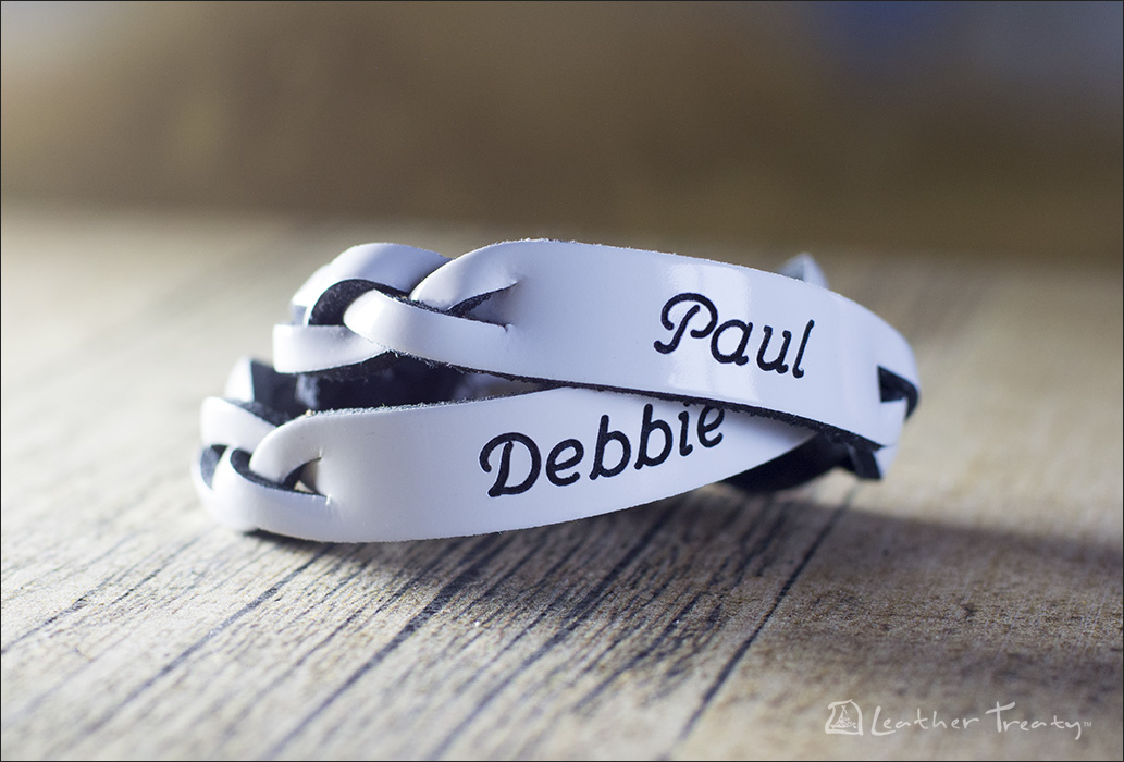 Leather Personalized Matching Couple Bracelets