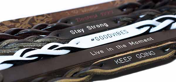 Personalized Bracelets Engraved on Genuine Leather