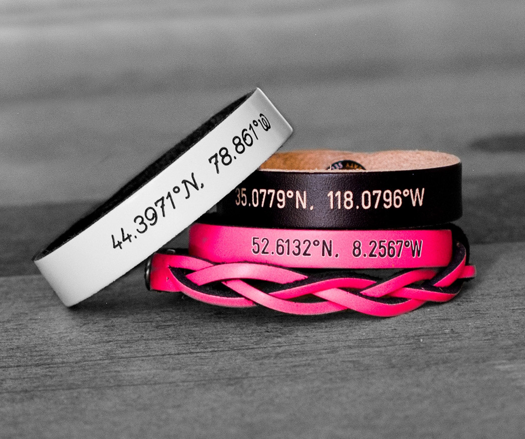 Customized Coordinates Bracelets