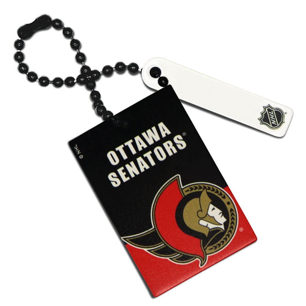 Ottawa Senators Rectangle Ball Chain Keychain
