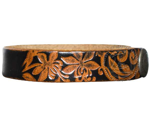 black-embossed-garden-wristband-custom-id-bracelet