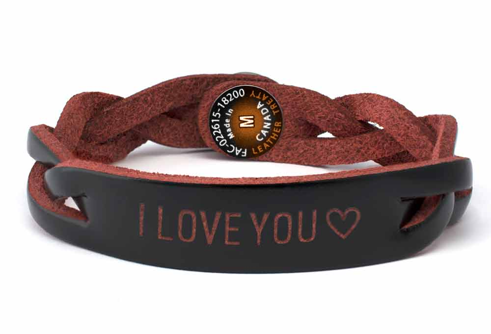 Personalized Leather Bracelets Treaty