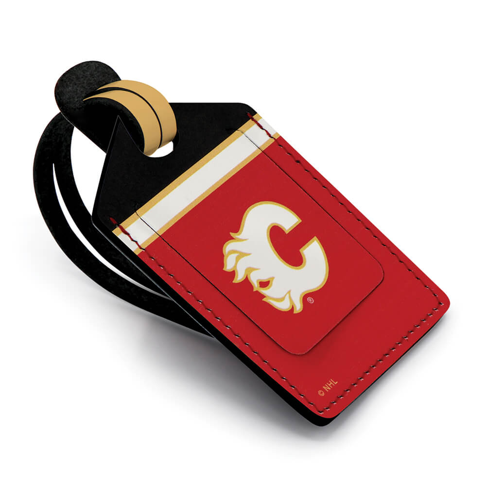 Calgary Flames Stitched Luggage Tag