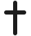 cross engraving symbol