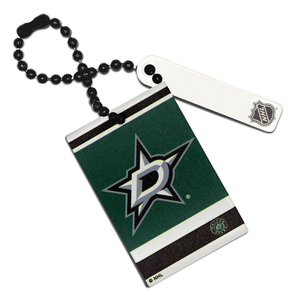 Dallas Stars Rectangle Ball Chain Keychain