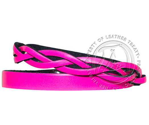 engravable-neon-pink-braided-wrap-bracelet