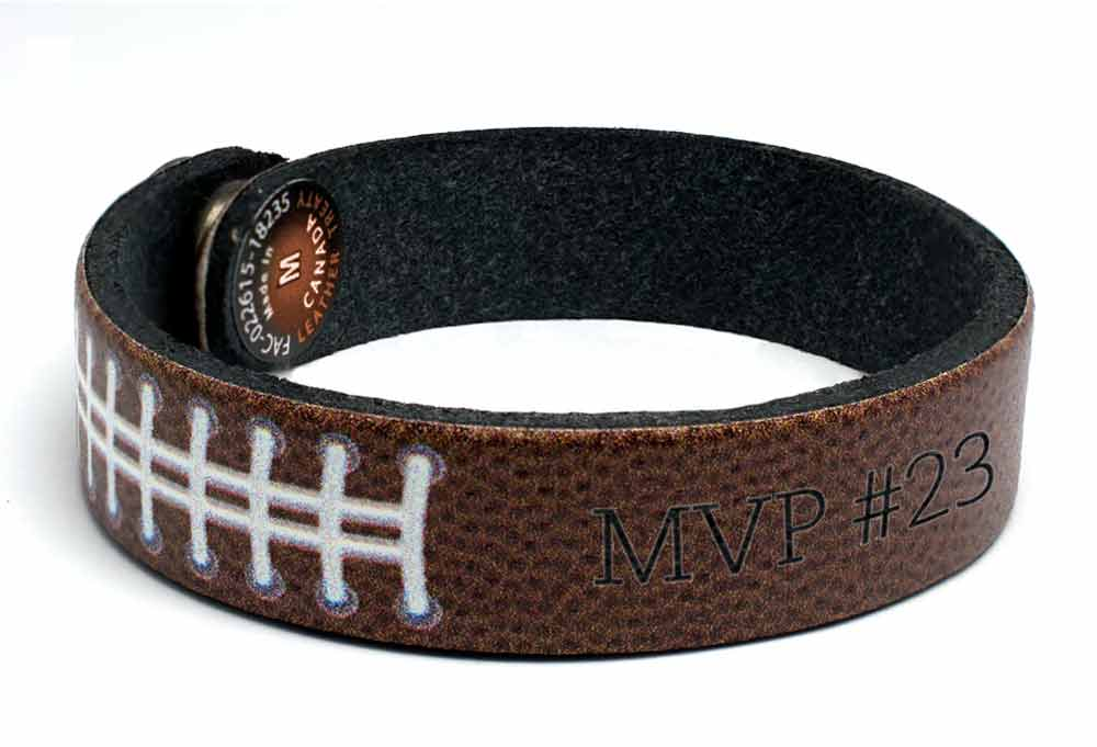 Football Pattern Wristband