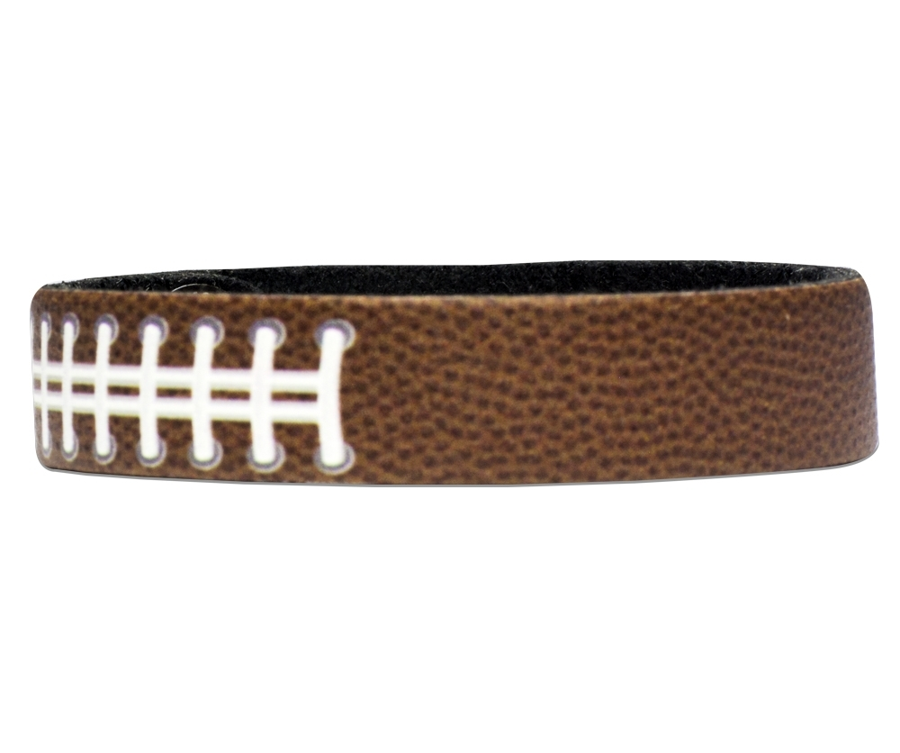 football-textured-personalized-wristband-bracelet