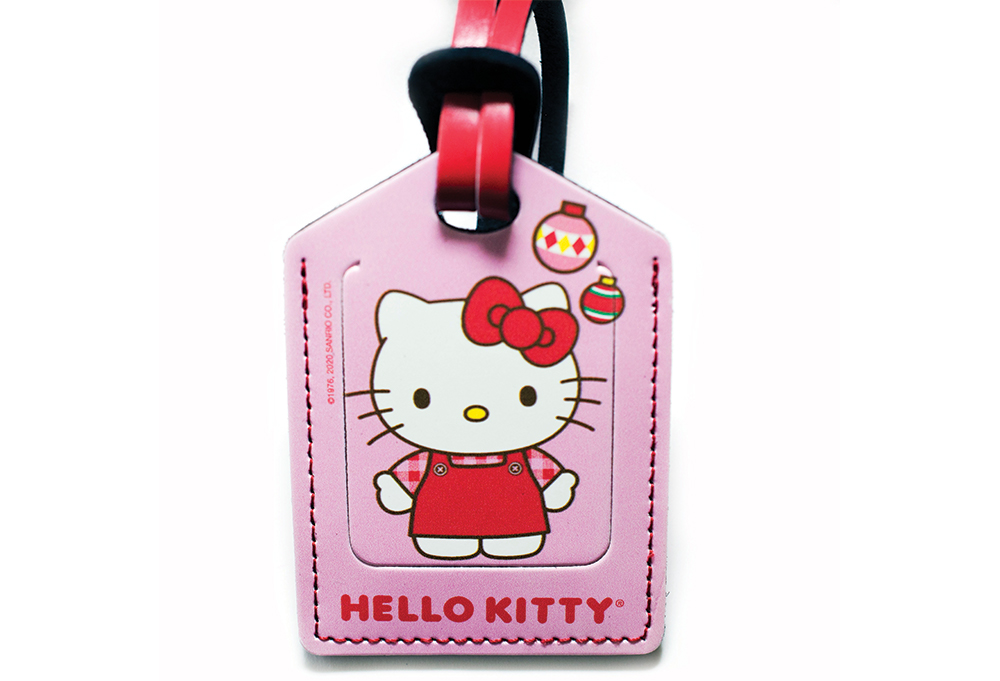 Hello Kitty Christmas Stitched Luggage Tag