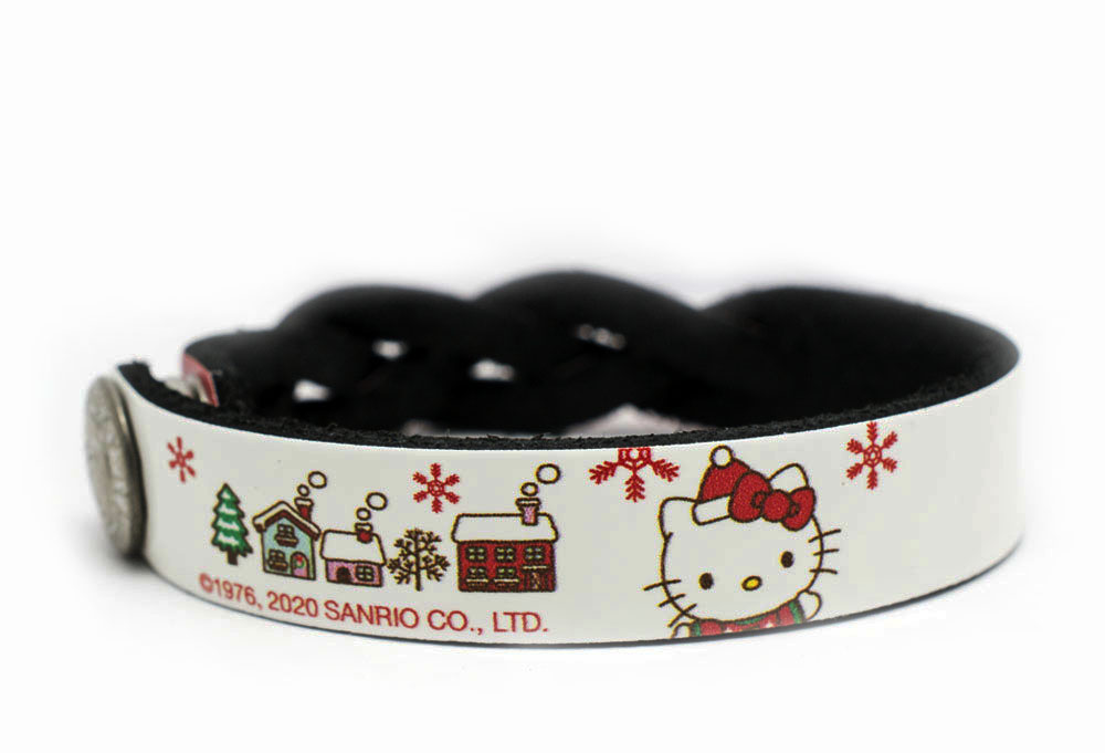 Hello Kitty Christmas Braided Bracelet