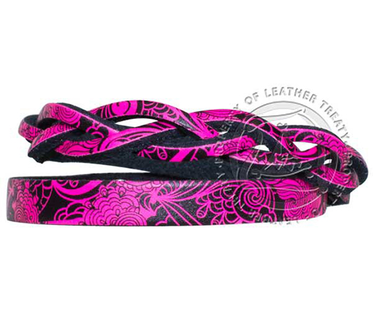 neon-pink-black-lace-custom-engraved-wrap-bracelet