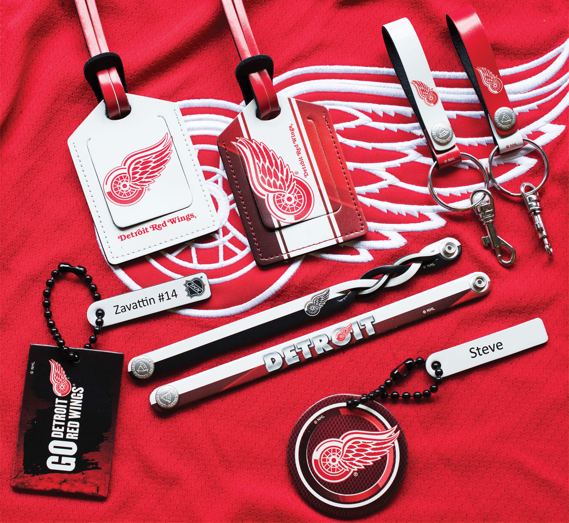 <p>NHL Collection Of Engraving Examples Detroit Red Wings</p>