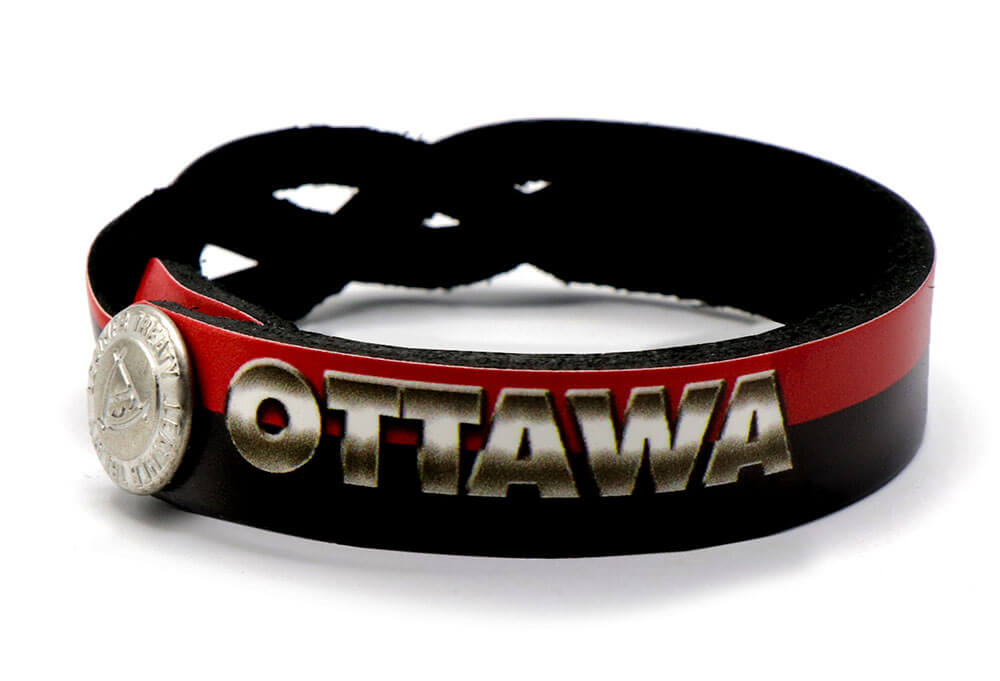 Ottawa Senators Braided One Side Bracelet