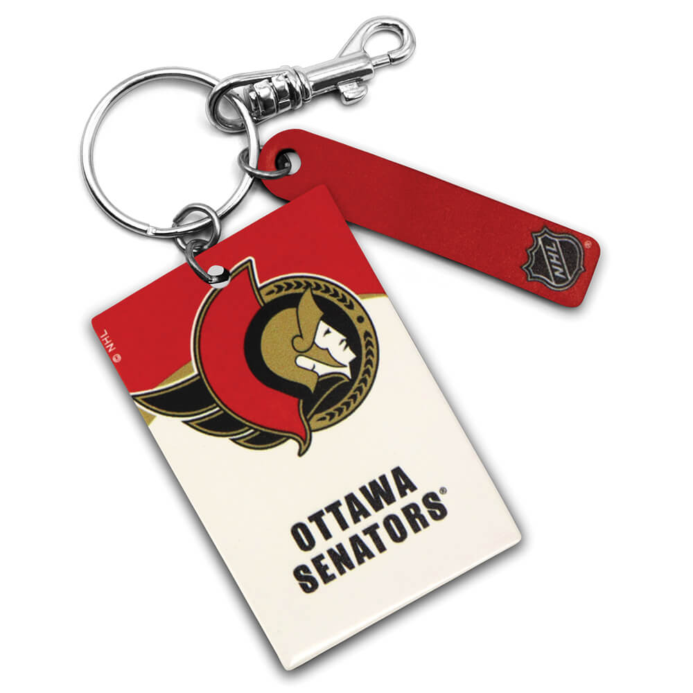 Ottawa Senators Rectangle Key Ring Keychain