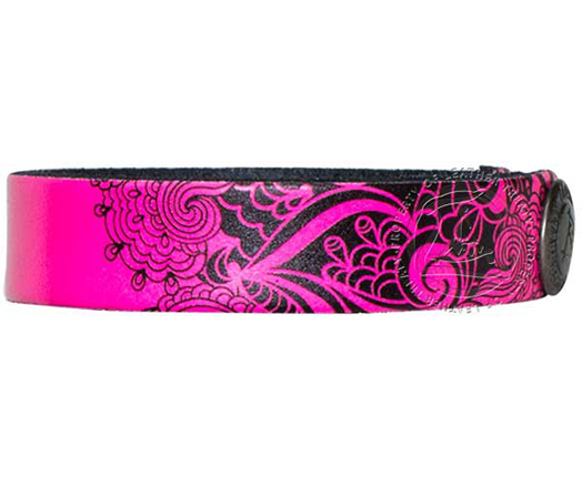 pink-black-lace-personalized-wristband-bracelet