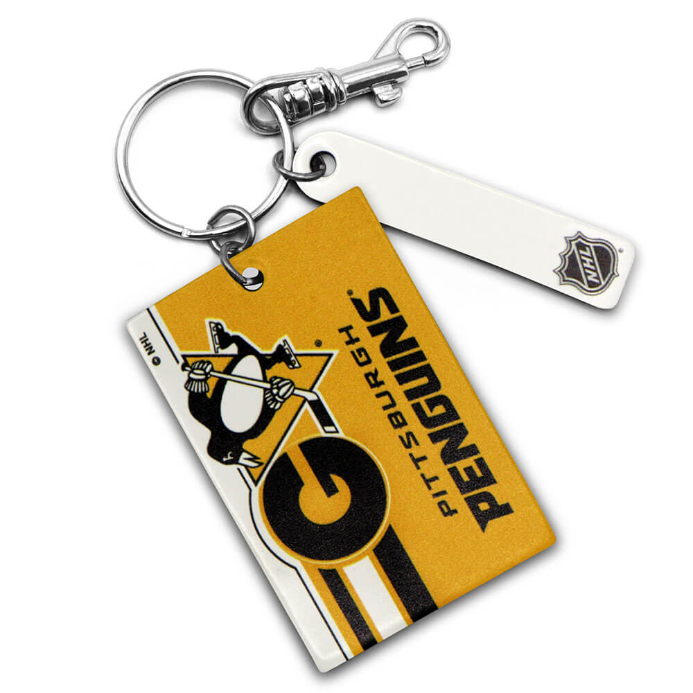 Pittsburgh Penguins Rectangle Key Ring Keychain