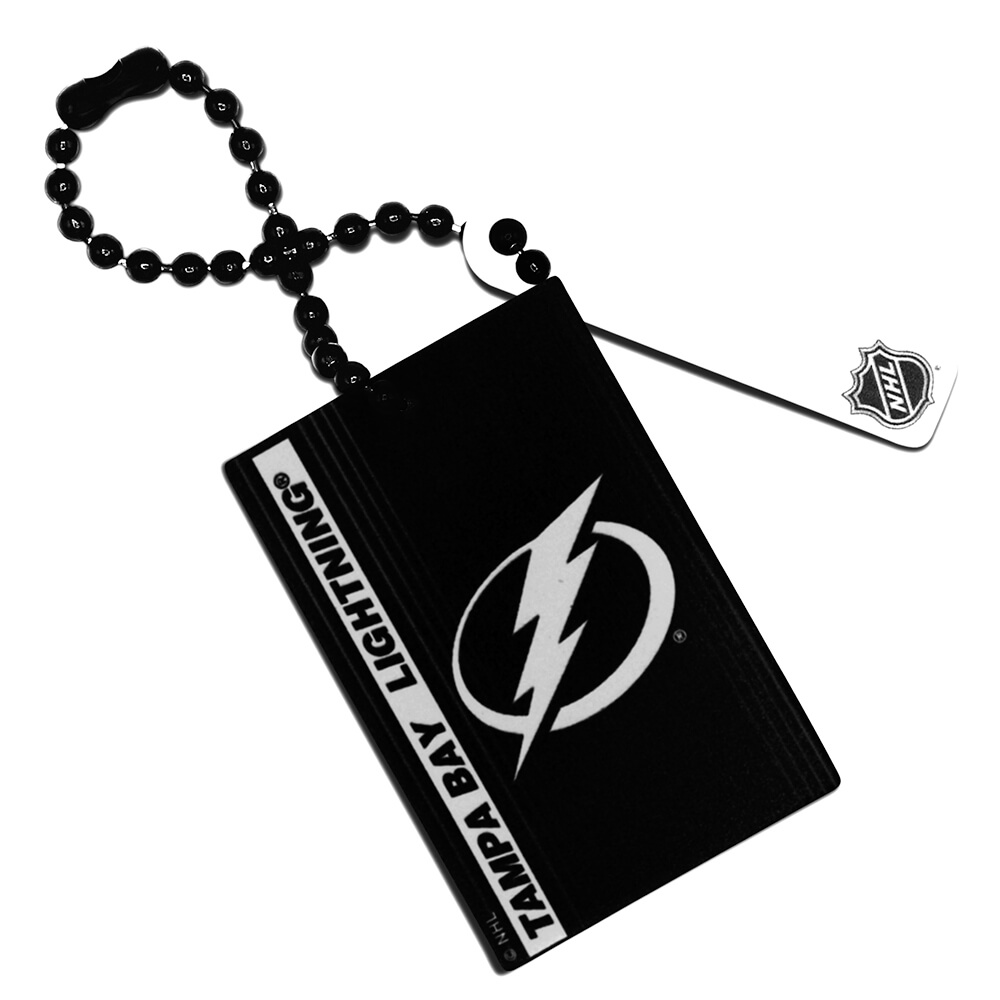 Tampa Bay Lightning Rectangle Ball Chain Keychain