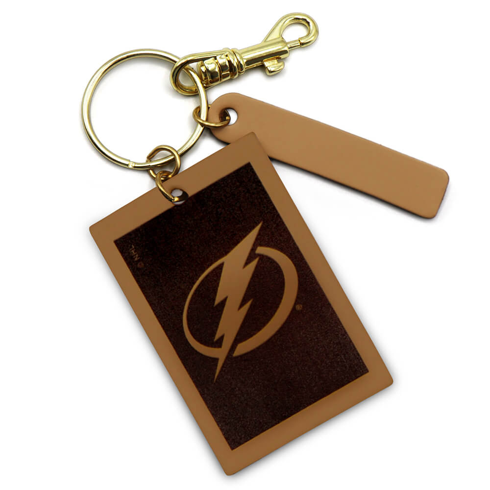 Tampa Bay Lightning Rectangle Key Ring Keychain