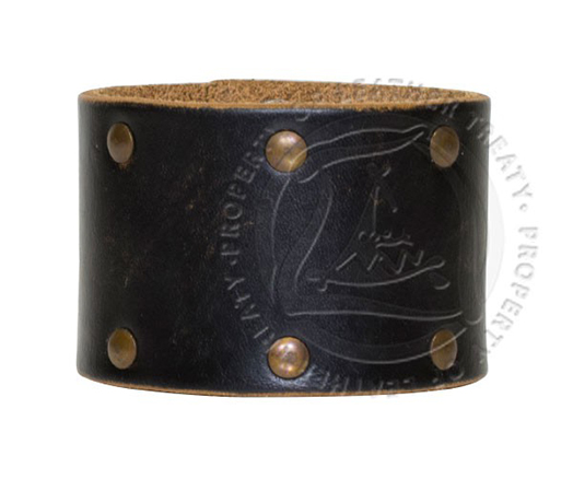 wide-black-studded-personalized-cuff-bracelet