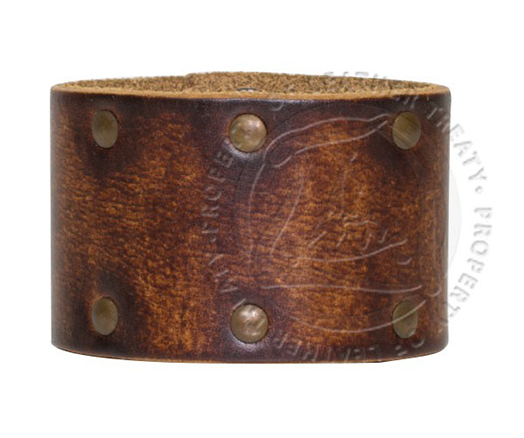 wide-brown-studded-personalized-cuff-bracelet