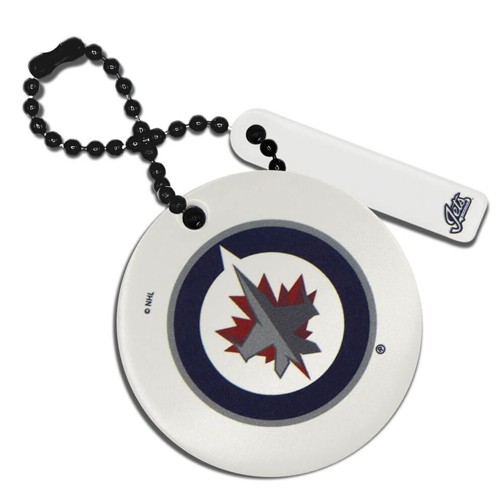 Winnipeg Jets Round Ball Chain Keychain